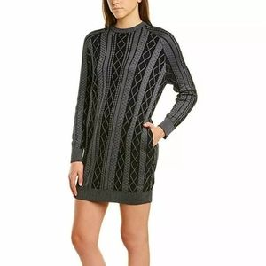 ATM Cable Stitch Sweater Dress